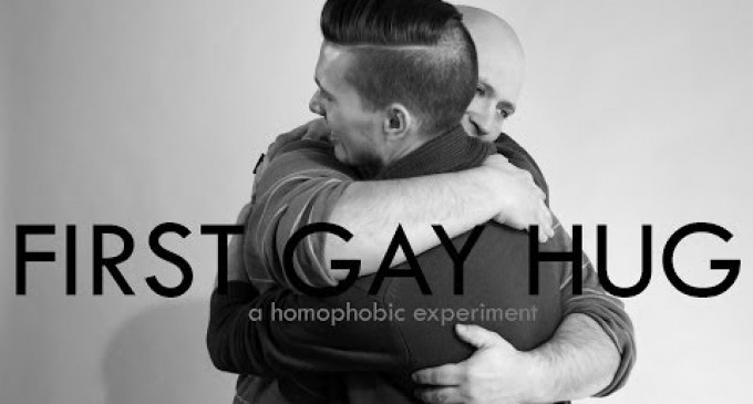 ახალი ვიდეო ექსპერიმენტი – ჰომოფობები და არატრადიცული ორიენტაციის ადამიანები ერთმანეთს ეხუტებიან