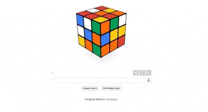 რუბიკი კუბიკს 40 წლის იუბილეს google ულოცავს