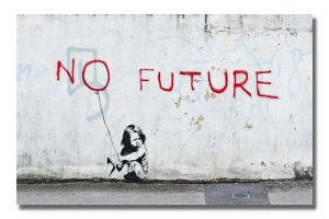 BA0031 Banksy - Child No Future Street Graffiti Stencil Art
