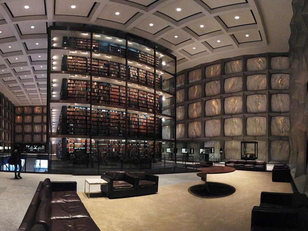 beinecke-rare-book-and-manuscript-library-interior