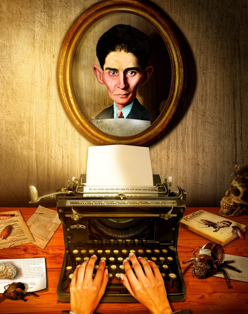 Franz-Kafka-and-his-Typewriter--105474