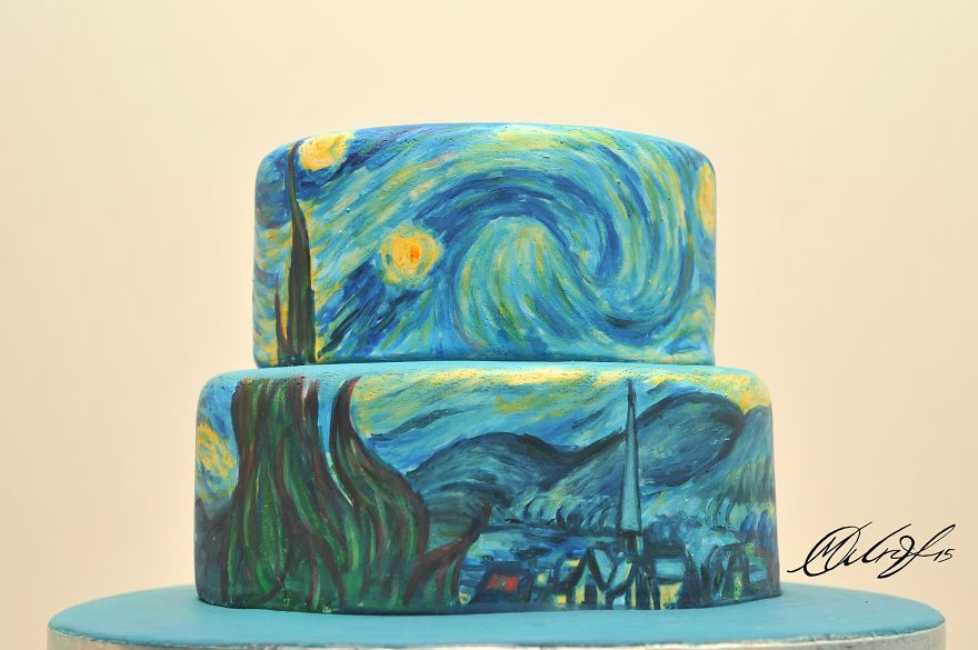 Cyprus-based-artist-recreates-famous-masterpieces-on-Cakes-__880
