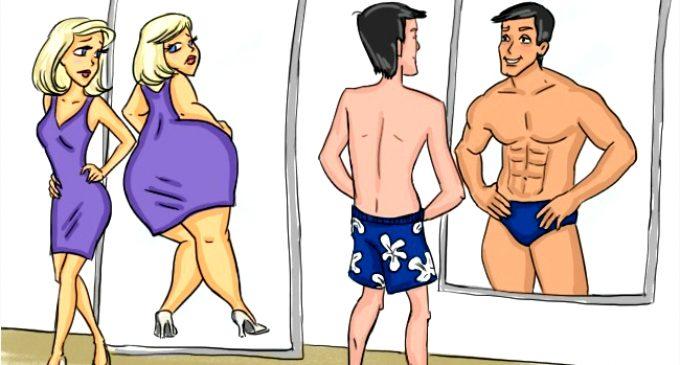 თვალსაჩინო განსხვავება მდედრობით და მამრობით სქესს შორის ➤ კომიქსები