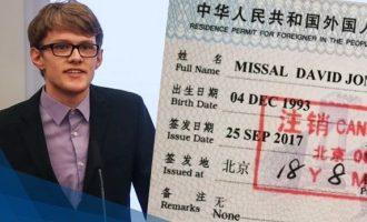 გერმანელი სტუდენტი ჩინეთიდან ადამიანის უფლებებზე მომზადებული სიუჟეტის გამო გააძევეს