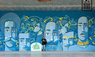 მაღლივის ბიბლიოთეკის კედლები მოიხატა