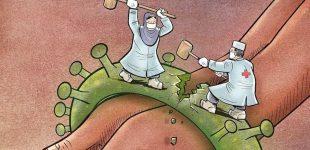ირანელმა მხატვარმა მსოფლიოში შექმნილ ვითარებას ნახატები მიუძღვნა